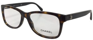 Chanel New Chanel 3314 C 714 Havana Eyeglasses With Chanel Logo on Temple 140mm