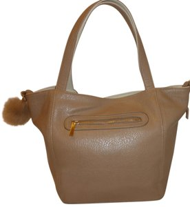 M i n k Refurbished + Lined Removable Inner Tote in Cream and Light Brown