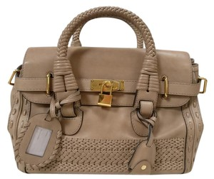 Gucci Leather New Beige Satchel in Tan