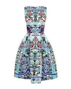 MARY KATRANTZOU Floral Pleated Dress
