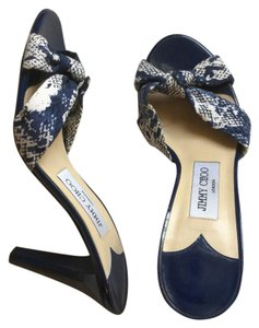 Jimmy Choo Blue and white Pumps
