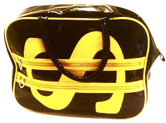 Item - Patent Leather Dollar Sign Weekend/Travel Bag