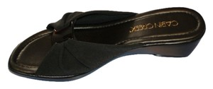 Cabin Creek Wedge Black Sandals