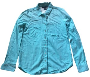 Calvin Klein Button Down Shirt teal