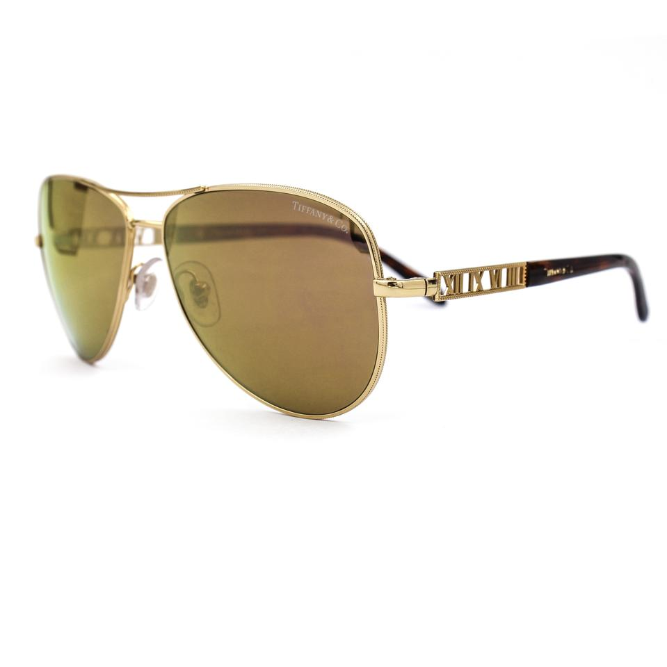 f6579a2ff4f0 Tiffany   Co. Tiffany   Co. Atlas Gold Plated Aviator Sunglasses Mirrored  Lenses Image ...