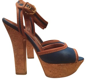 Sergio Rossi Blue/Brown Pumps