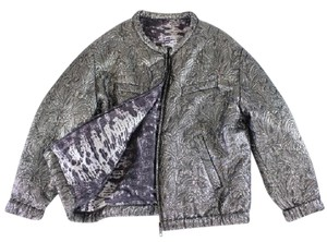 Isabel Marant H&m Bomber Reversible Gray / Purple Jacket