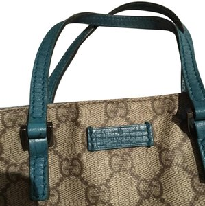 Gucci Tote in turquoise/Gucci pattern