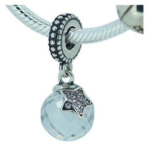 PANDORA pandora authentic moon star dangle charm bead new silver in box