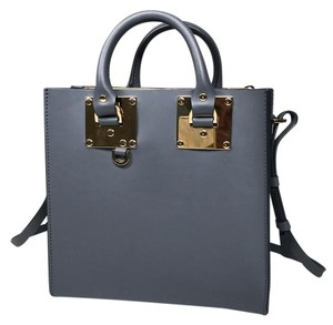 Sophie Hulme Crossbody Tote in Charcoal, Gray, Grey, Gold