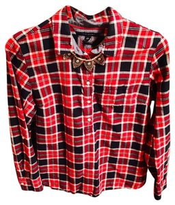 Tommy Hilfiger Button Down Shirt Red/Blue/White