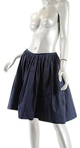 ANAESSIA Denim Skirt Navy Denim