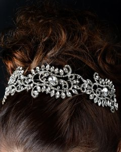 Unik Occasions - Vintage Crystal Rhinestone Crown Headband