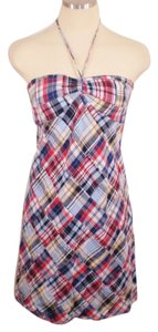Ann Taylor LOFT short dress Multi Madras Pretty Comfortable on Tradesy