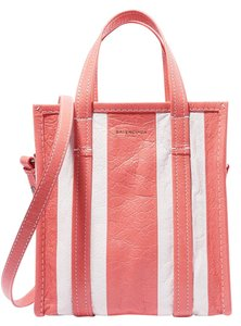 Balenciaga Tote in white and coral