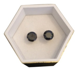 Other 14K Solid Yellow Gold Black CZ Earrings