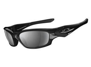 Oakley Oakley Straight Jacket Polished Black/Black Iridium Polarized 12-935
