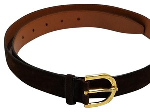 Salvatore Ferragamo Salvatore Ferragamo Brown Suede Leather Belt