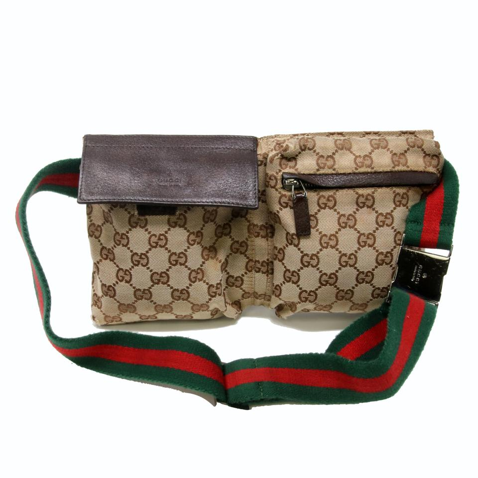 26c4993afd1 Gucci Gg Monogram Fanny Pack Belt Mens Brown Canvas Weekend/Travel Bag