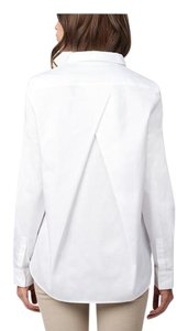 Cuyana Pleat-back Button Down Shirt White