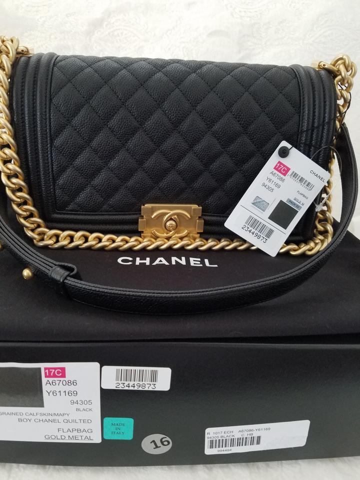 27ca6208495bc4 Chanel Boy Caviar Gold Hardware Shoulder Bag Image 11. 123456789101112