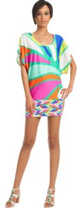 Trina Turk TROPICALIA VIBRANT PRINT TUNIC DRESS SWIMSUIT COVER UP