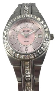 Relic relic women's stainless steel and rhinestones watch