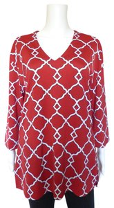 Tracy Negoshian Bohemian Top Red