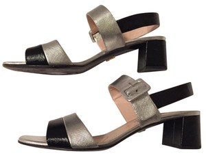 Prada black and silver Sandals