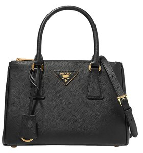 Prada Galleria Mini Tote in black
