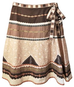 BCBGMAXAZRIA Embroidered Vintage-look Skirt Multicolor