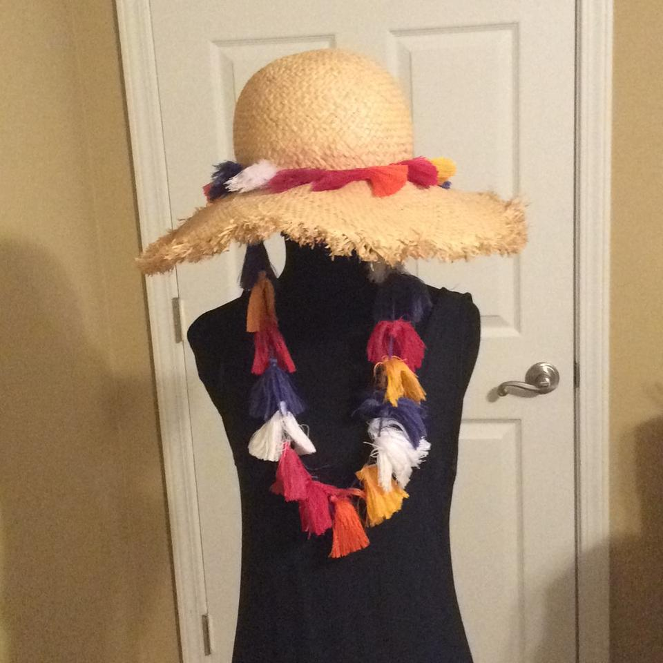 c197b80f7 Kate Spade Multicolor Backpack Tassel Sunhat Hat 44% off retail