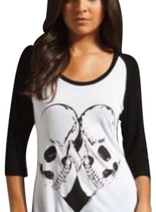 Lauren Moshi T Shirt Black and white
