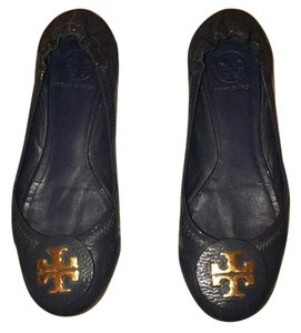 Tory Burch Blue Patent Leather Flats
