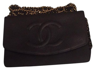 Chanel Woc Wallet On A Chain Black Caviar Leather Cross Body Bag