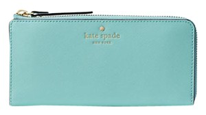 Kate Spade Mikas Pond Nisha Accordion Zip Wallet Soft Aqua