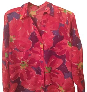 The Limited Button Down Shirt pink floral