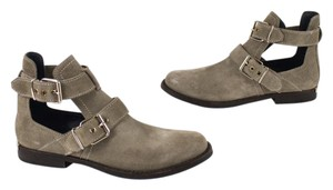 Burberry Italy Cut Out Suede Gray Boots