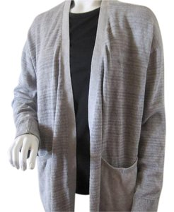 Calvin Klein #1025399 Flannel Cardigan Ribbed Sweater