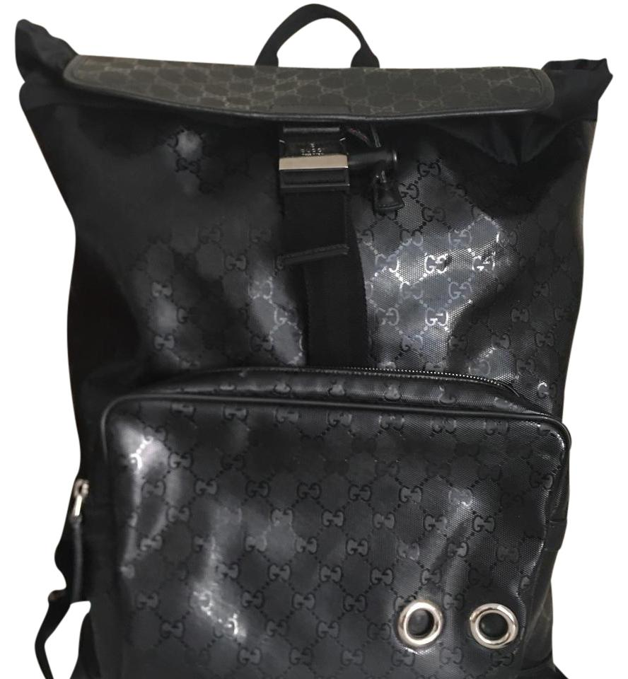 5262b99d81496b Gucci Gg 500 Imprime Coated Black Large Le Backpack - Tradesy