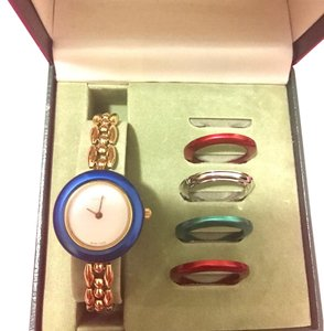 Gucci Gucci Rice-Grain Link Ladies Gold Watch