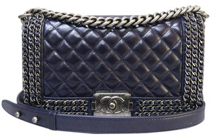 Chanel Boy Black Calfskin Shoulder Bag
