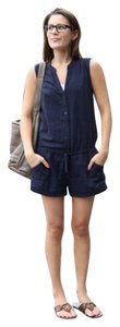Twelve by Twelve Los Angeles Linen Romper Sleeveless Shorts Khaki