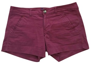 American Eagle Outfitters Cuffed Shorts Burgundy