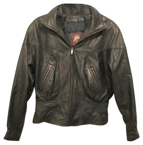 Adventure Bound Wilson Distressed Motorcycle Biker Green Leather Jacket