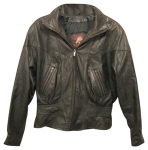 Adventure Bound Wilson Leather Leather Vintage 80's Distressed Leather Retro Dark Green Leather Jacket