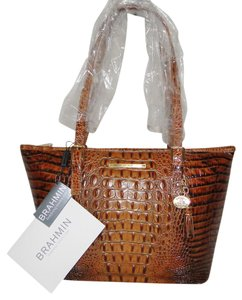 Brahmin Almond Melbourne Leather Asher L15131td Tote in Toasted Almond