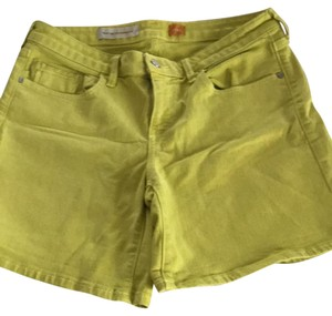 Anthropologie Mini/Short Shorts chartreuse