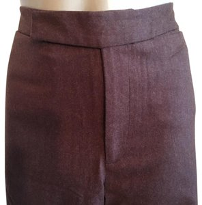 TSE Wool Wide Leg Pants Brown