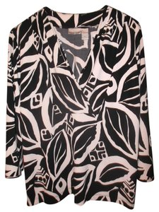 Chico's Machine Washable Fluid Knit Abstract Design Tunic